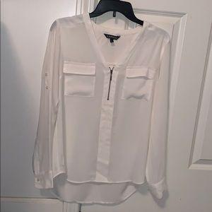 White long sleeve dressy blouse